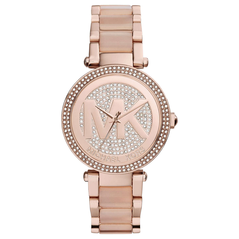 Michael Kors Mk6176 Parker Crystal Bracelet Strap Watch Rose Gold Online At Johnlewis