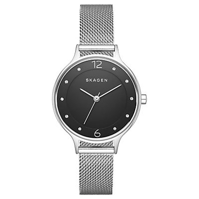 Skagen SKW2473 Women's Anita Mesh Bracelet Strap Watch, Silver