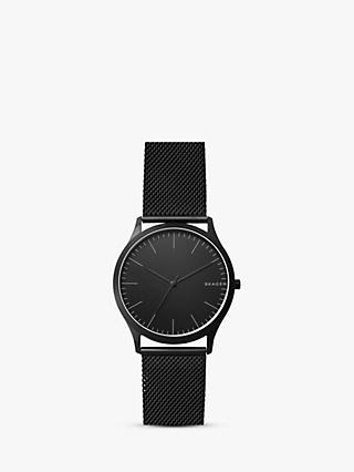 Skagen SKW6422 Men's Jorn Mesh Bracelet Strap Watch, Black