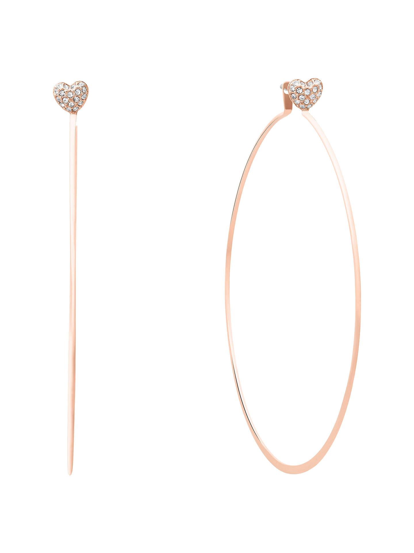 Michael Kors Love Is In The Air Hoop Earrings Rose Gold Mkj7137791 Online At Johnlewis
