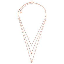Buy Michael Kors Flower Power Necklace, Rose Gold MKJ7170791 Online at johnlewis.com