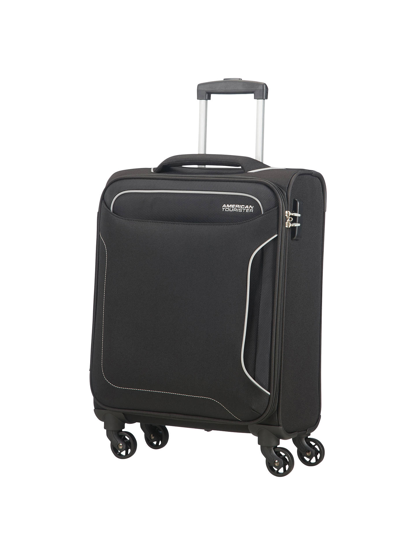 BuyAmerican Tourister Holiday Heat 4-Spinner 55cm Cabin Suitcase, Black  Online at johnlewis. fc83cc1a31
