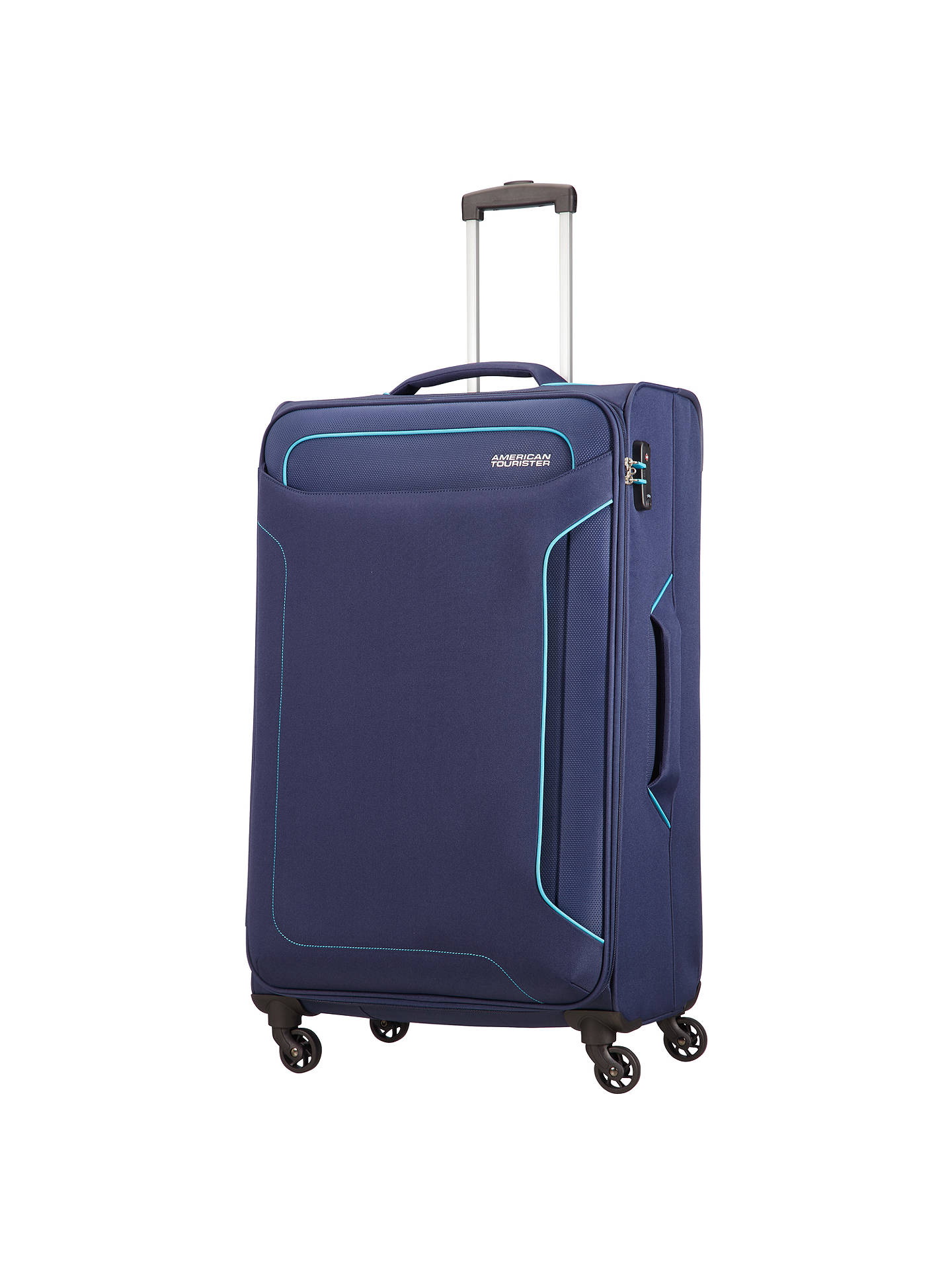 99d53e511b90 American Tourister Holiday Heat 4-Spinner 79cm Large Suitcase, Navy