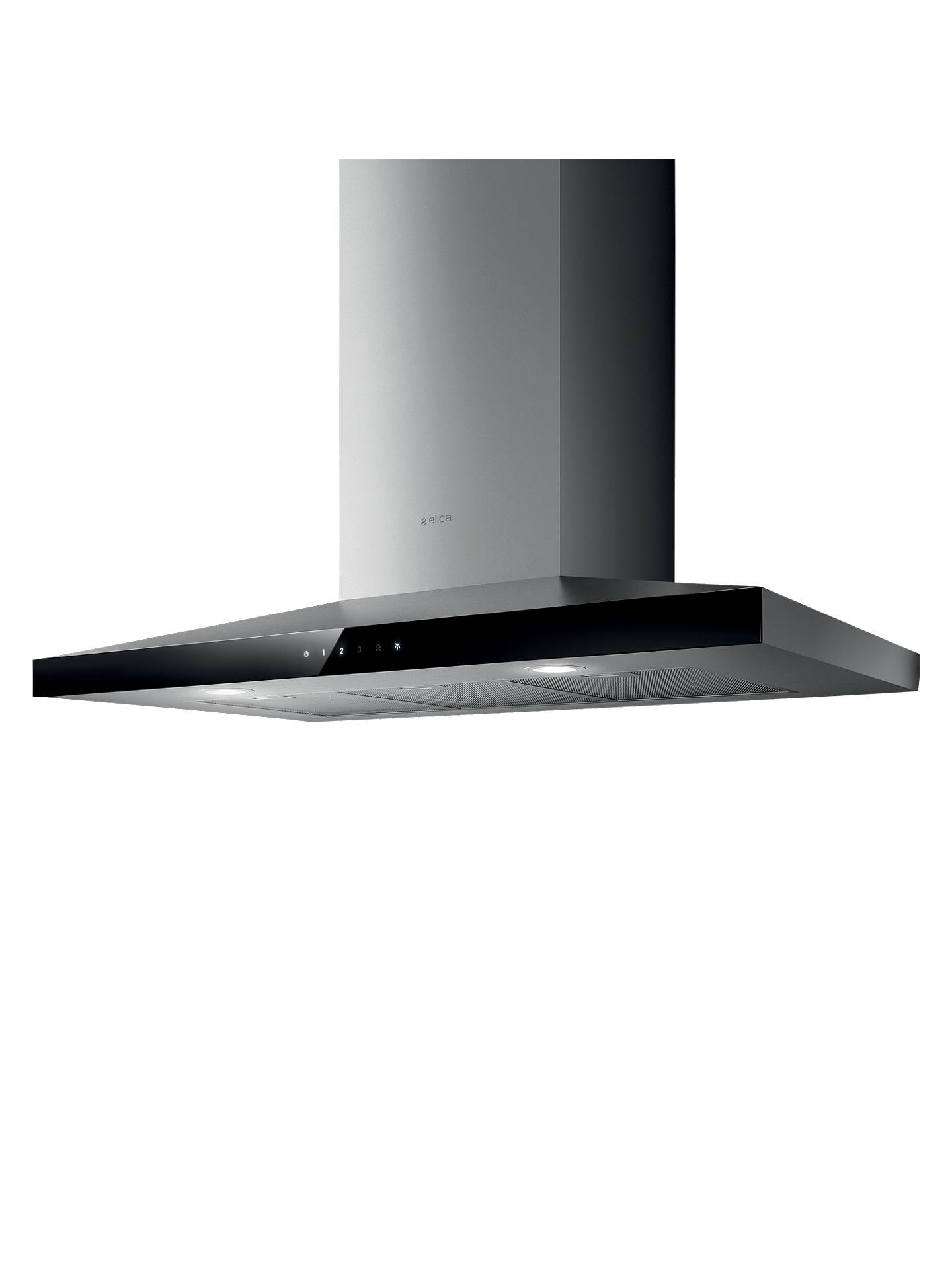 BuyElica Claire 60 Chimney Cooker Hood, Black Glass/Stainless Steel Online at johnlewis.com
