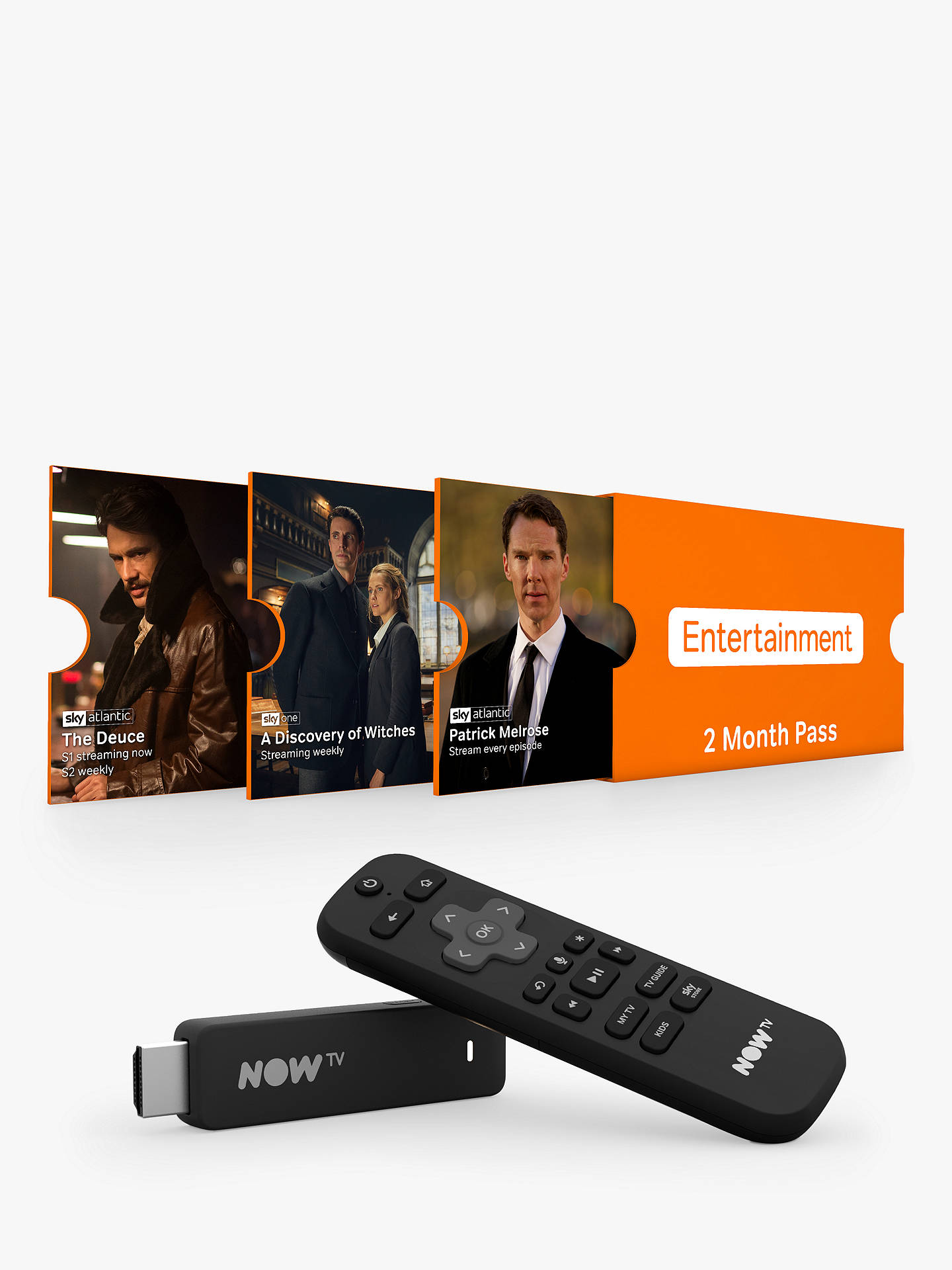NOW TV Smart Stick with HD, Voice Search & 2 Month Entertainment Pass