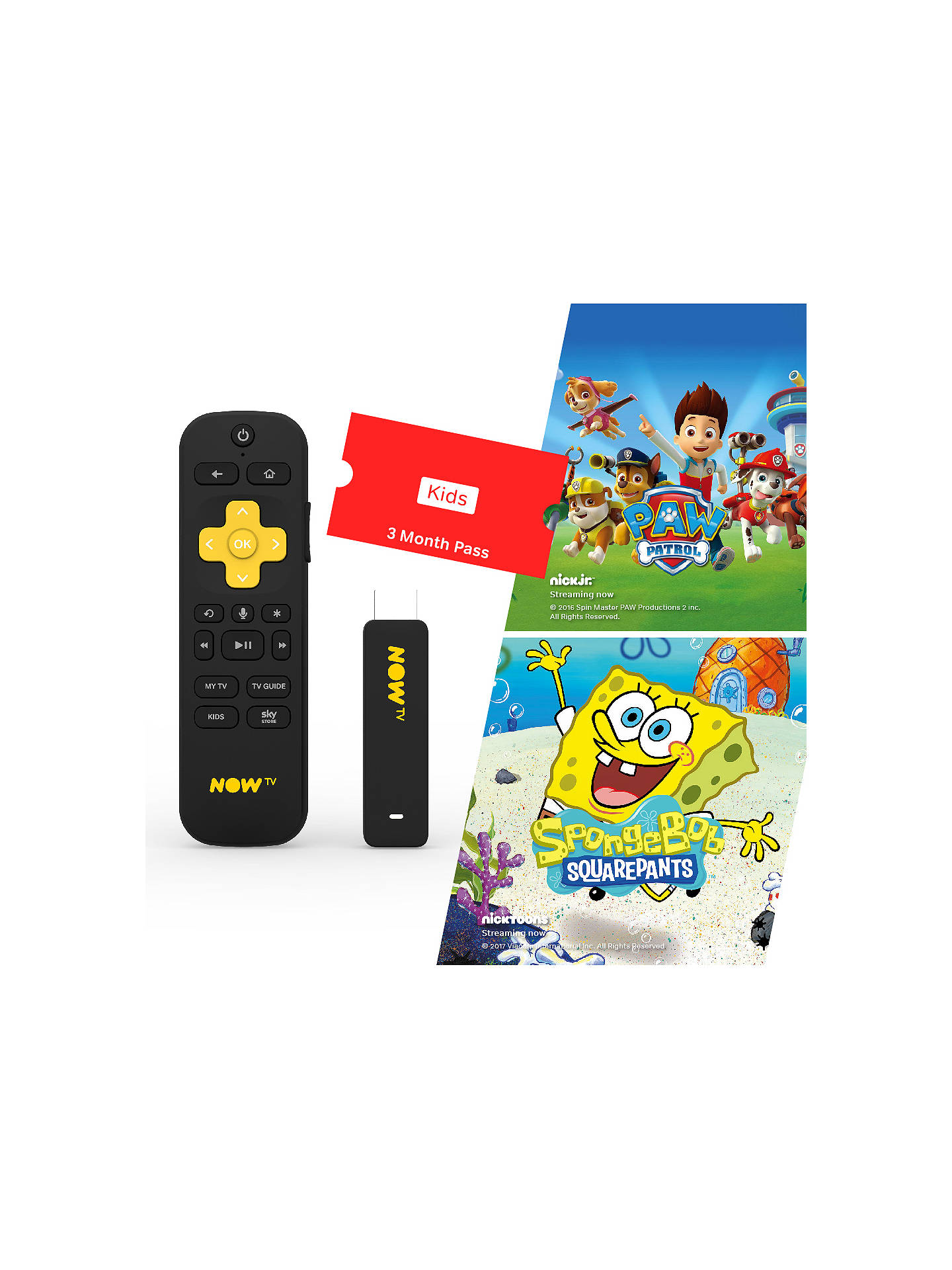 NOW TV Smart Stick with Voice Search & 3 Month Kids Pass at John ...