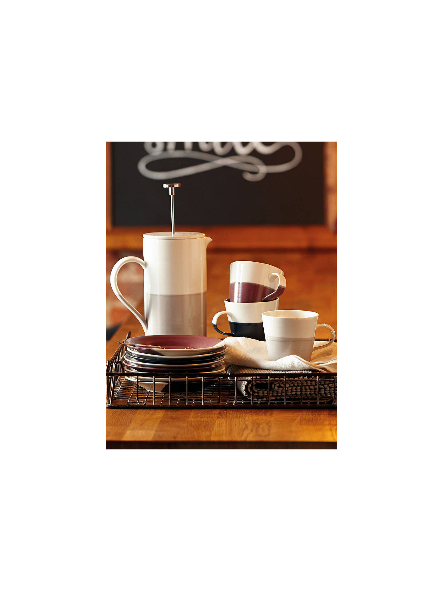 BuyRoyal Doulton Coffee Studio French Press Cafetiere, White/Multi, 1.6L Online at johnlewis.com