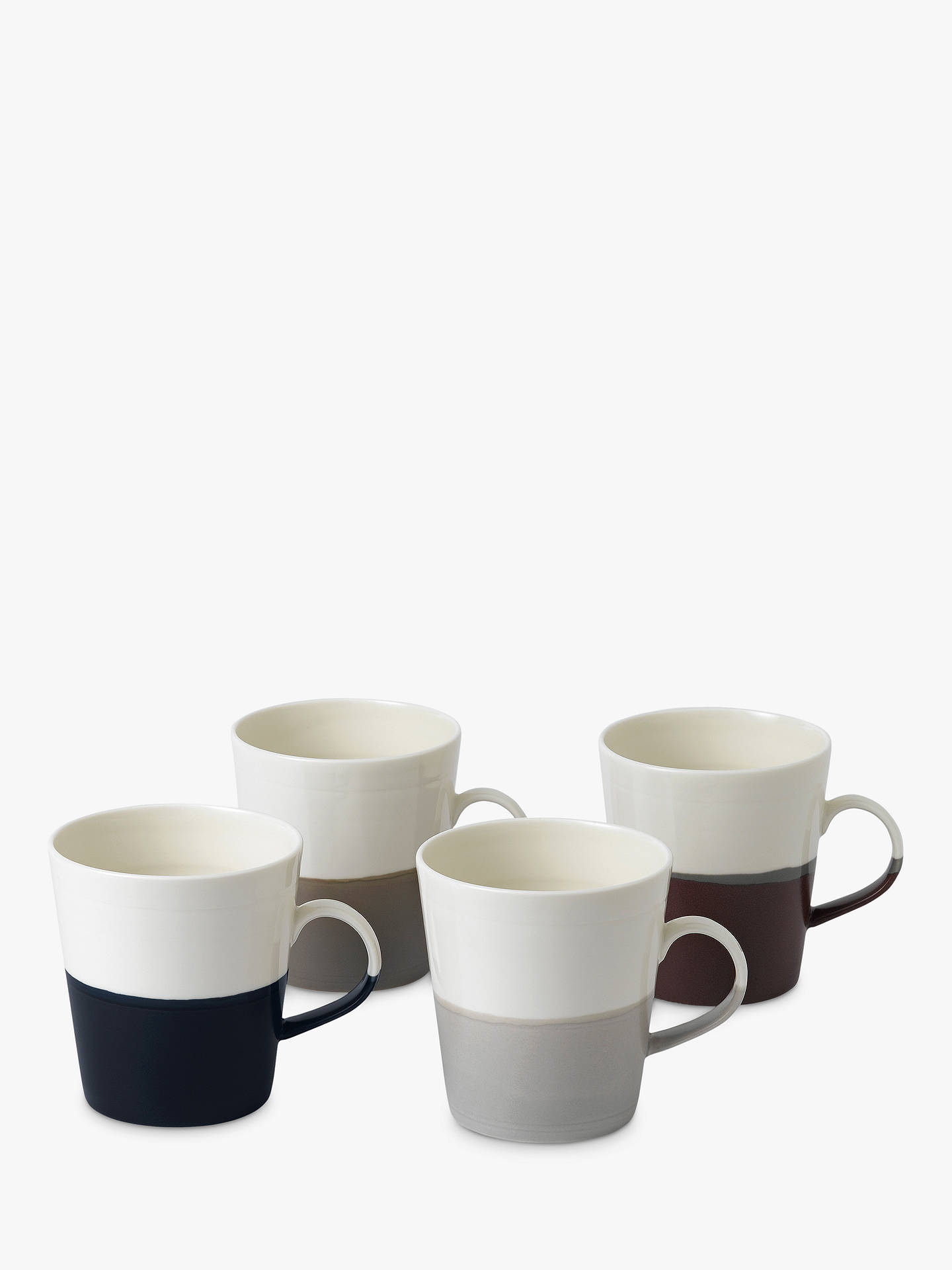 Buy Royal Doulton Coffee Studio Grande Mugs, White/Multi, 500ml, Set of 4 Online at johnlewis.com
