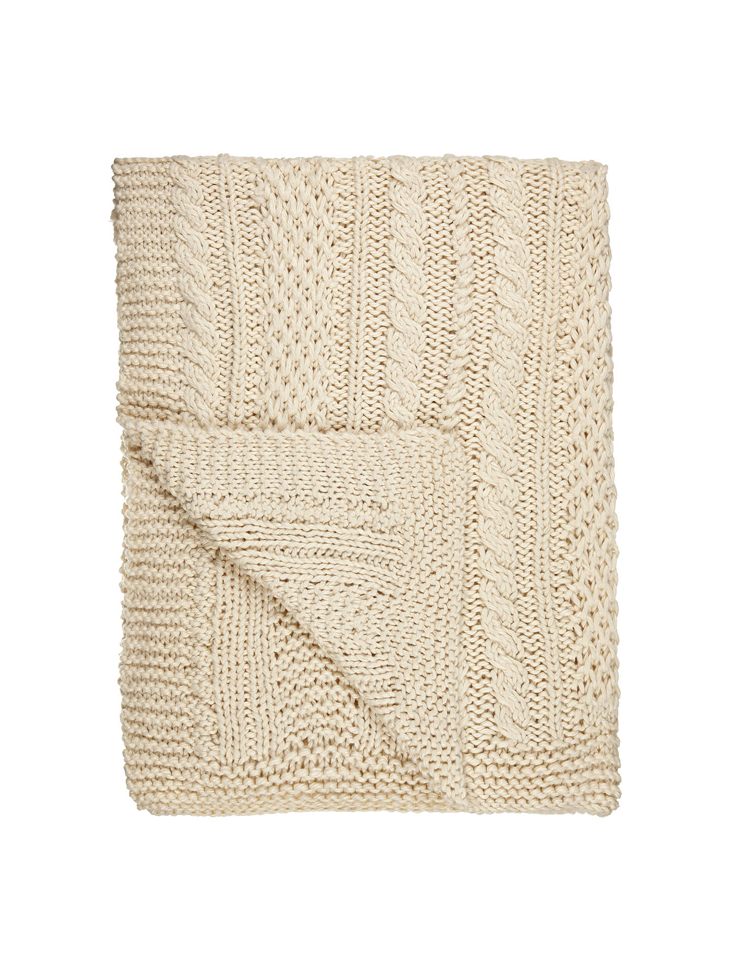 BuyJohn Lewis & Partners Chunky Knit Throw, Natural Online at johnlewis.com