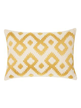 John Lewis & Partners Ikat Cushion, Saffron