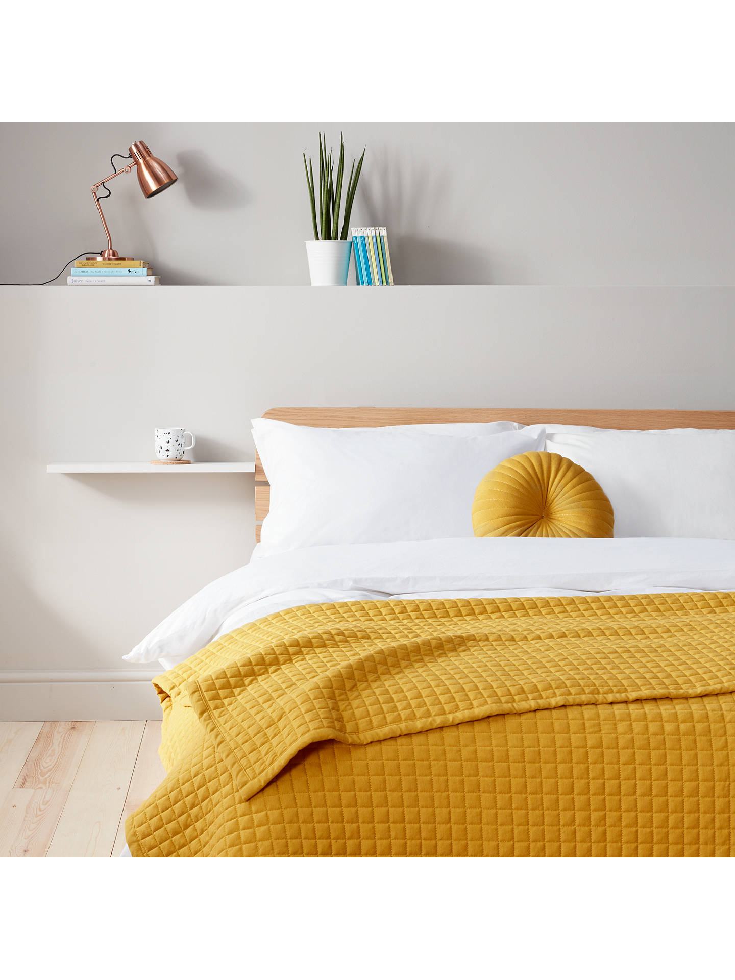 Buy House by John Lewis Round Jersey Cushion, Mustard Online at johnlewis.com