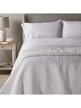 John Lewis Partners Ruben Bedspread White