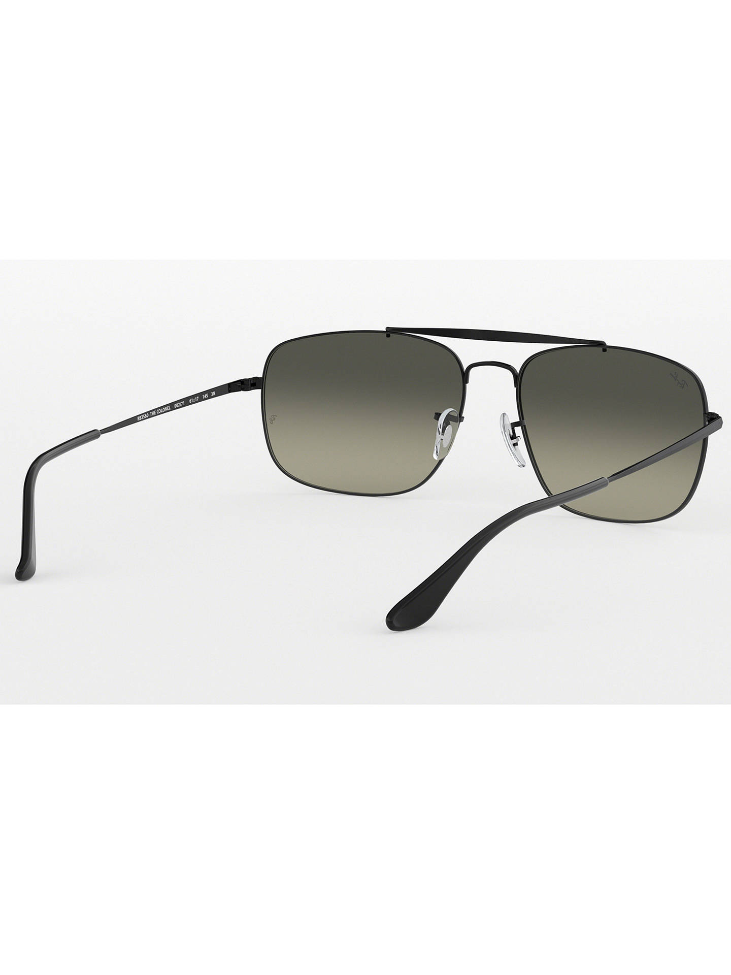 BuyRay-Ban RB3560 Men's The Colonel Square Sunglasses, Black Online at johnlewis.com