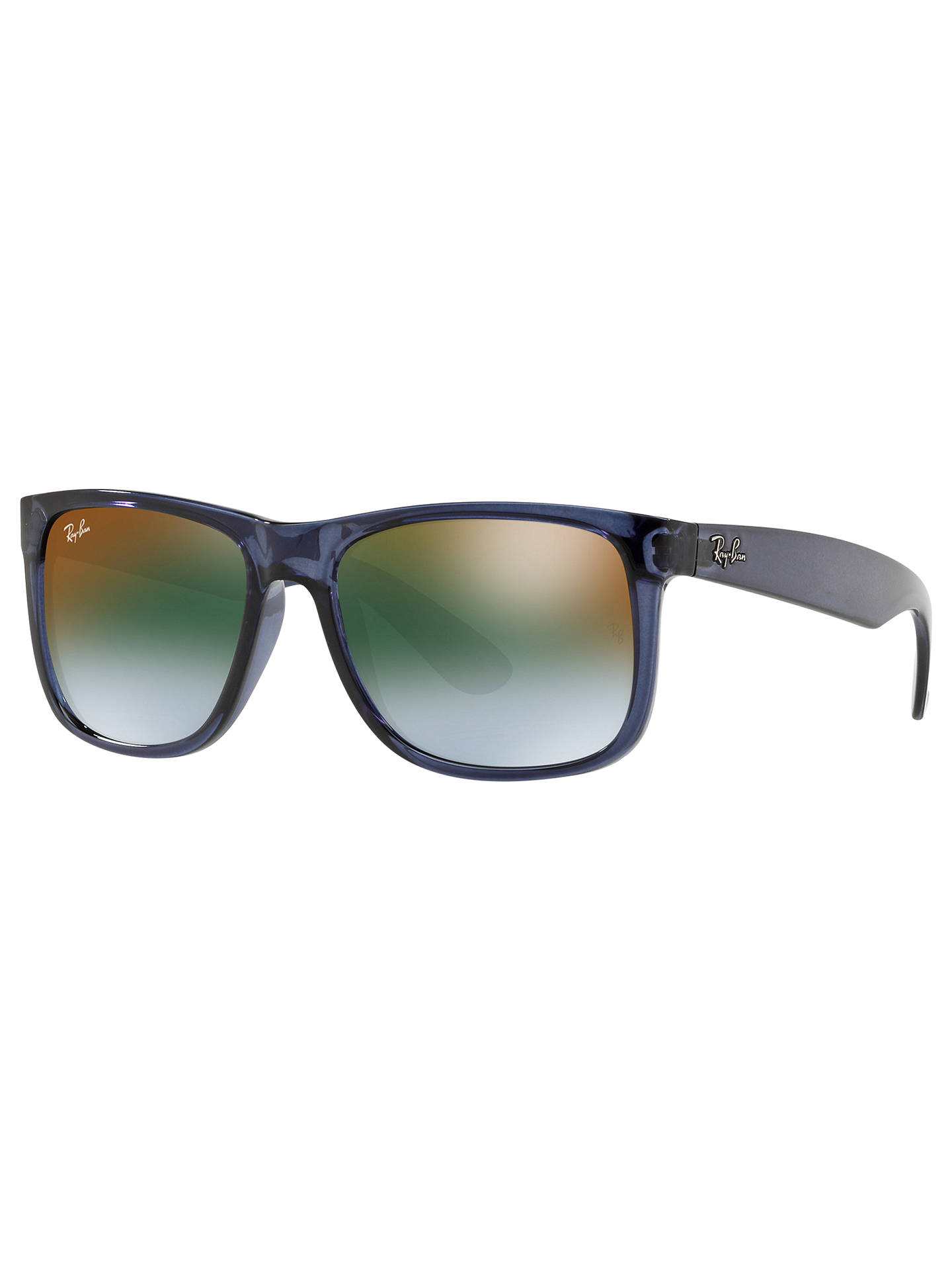 3fb9f031e8 Ray-Ban RB4165 Justin Men s Rectangular Sunglasses at John Lewis ...