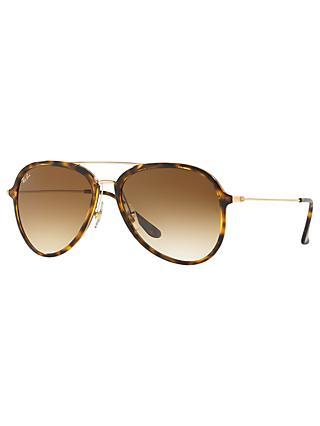 Ray-Ban RB4298 Unisex Aviator Sunglasses, Tortoise
