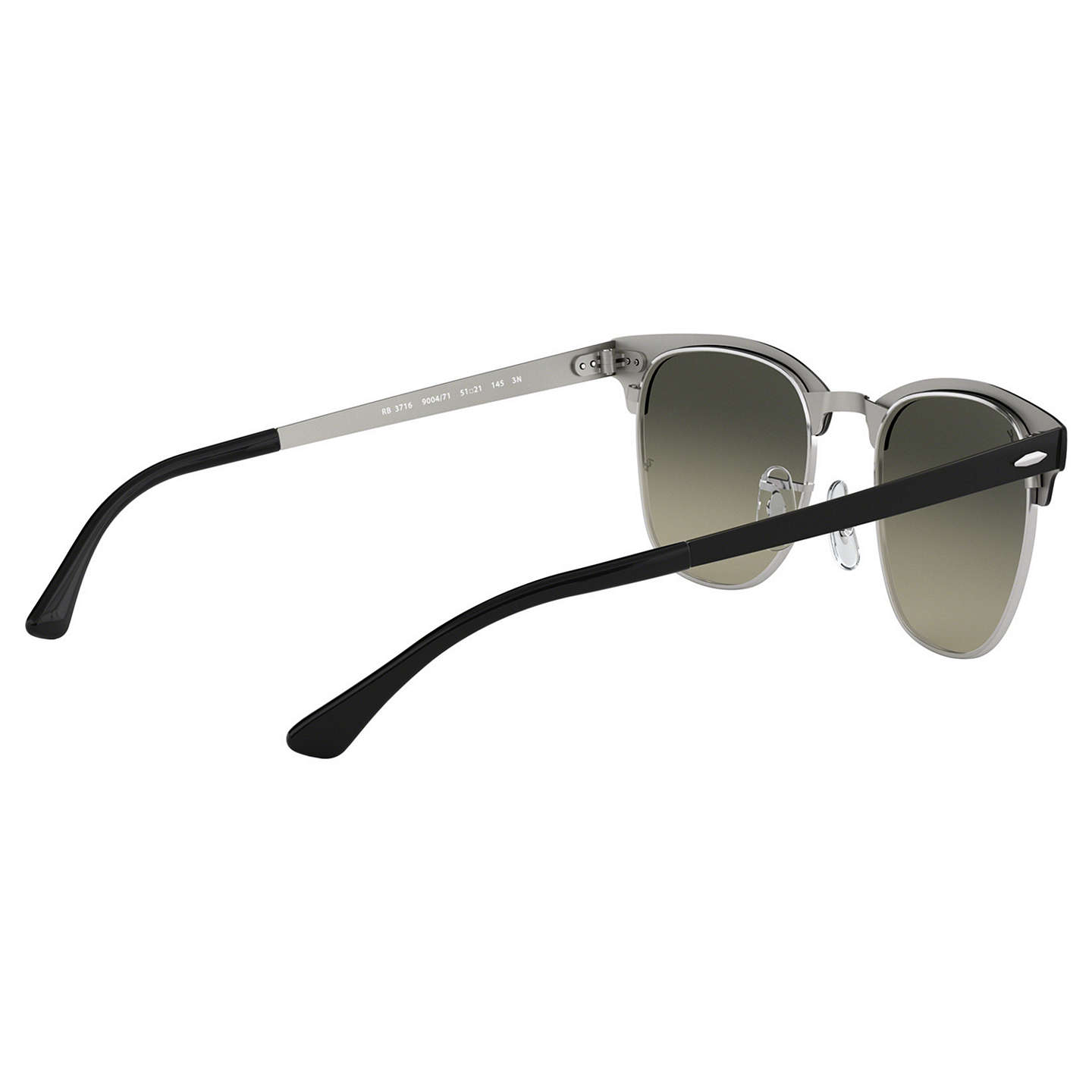 BuyRay-Ban RB3716 Unisex Square Sunglasses, Black/Green Gradient Online at johnlewis.com