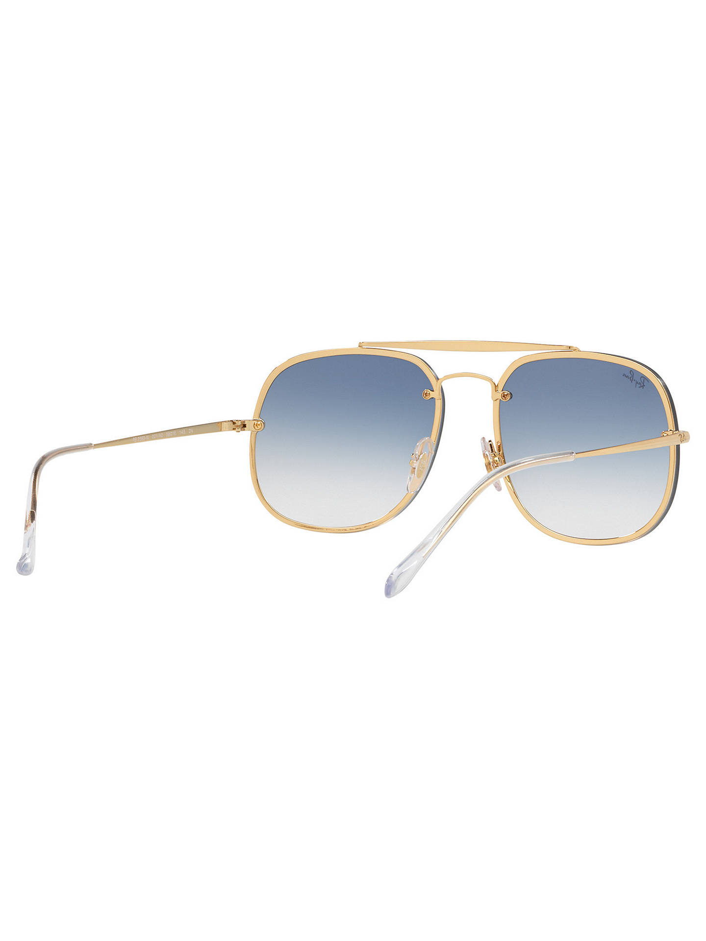 BuyRay-Ban RB3583 Unisex Square Polarised Sunglasses, Gold/Blue Online at johnlewis.com