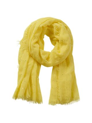 Betty Barclay Sequin Embellished Scarf, Yellow Sun