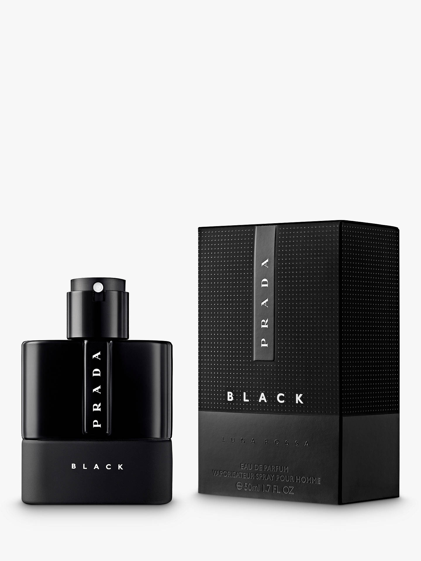 BuyPrada Luna Rossa Black Eau de Parfum, 50ml Online at johnlewis.com