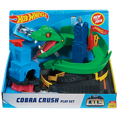 Image of Hot Wheels City Cobra Crush Play Set