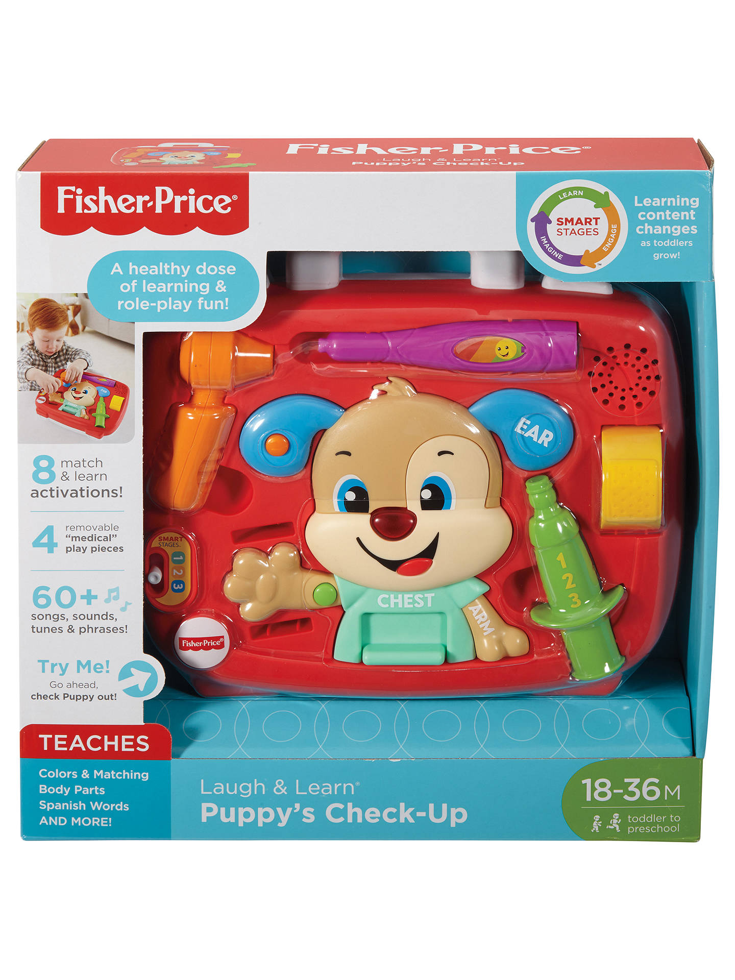 7eb420d89 Buy Fisher-Price Laugh and Learn Puppy's Check-Up Kit Online at johnlewis.