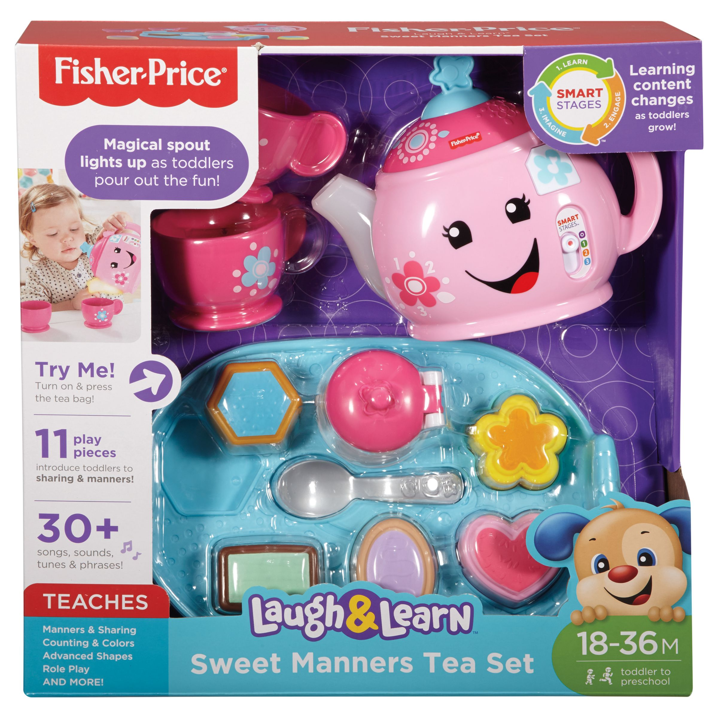 Fisher-Price Fisher-Price Laugh and Learn Sweet Manners Tea Set
