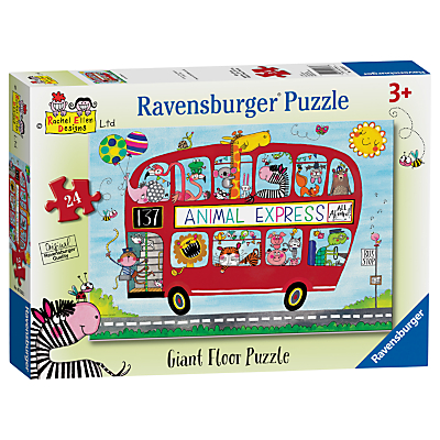 Image of Ravensburger Animal Express Floor Jigsaw Puzzle, 24 Pieces