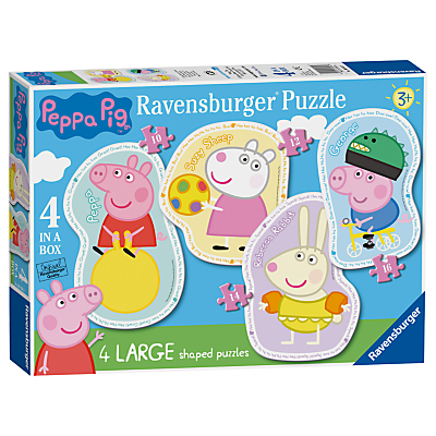 Ravensburger Peppa Pig Jigsaw Puzzle, Pack of 4