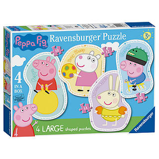 Childrens jigsaws puzzles john lewis ravensburger peppa pig jigsaw puzzle pack of 4 gumiabroncs Image collections