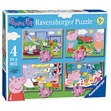 Buy Peppa Pig Ravensburger 4 In a Box Jigsaw Puzzle Online at johnlewis.com