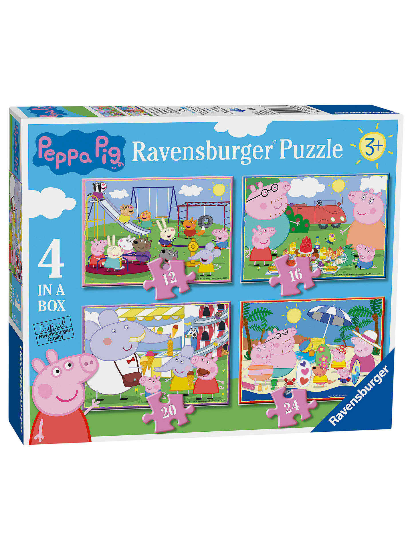 Peppa Pig Ravensburger 4 In A Box Jigsaw Puzzle by Peppa Pig