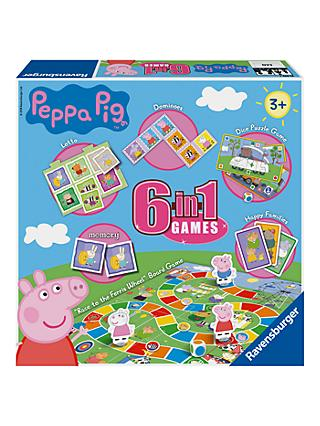 Ravensburger Peppa Pig 6 in 1 Games Set