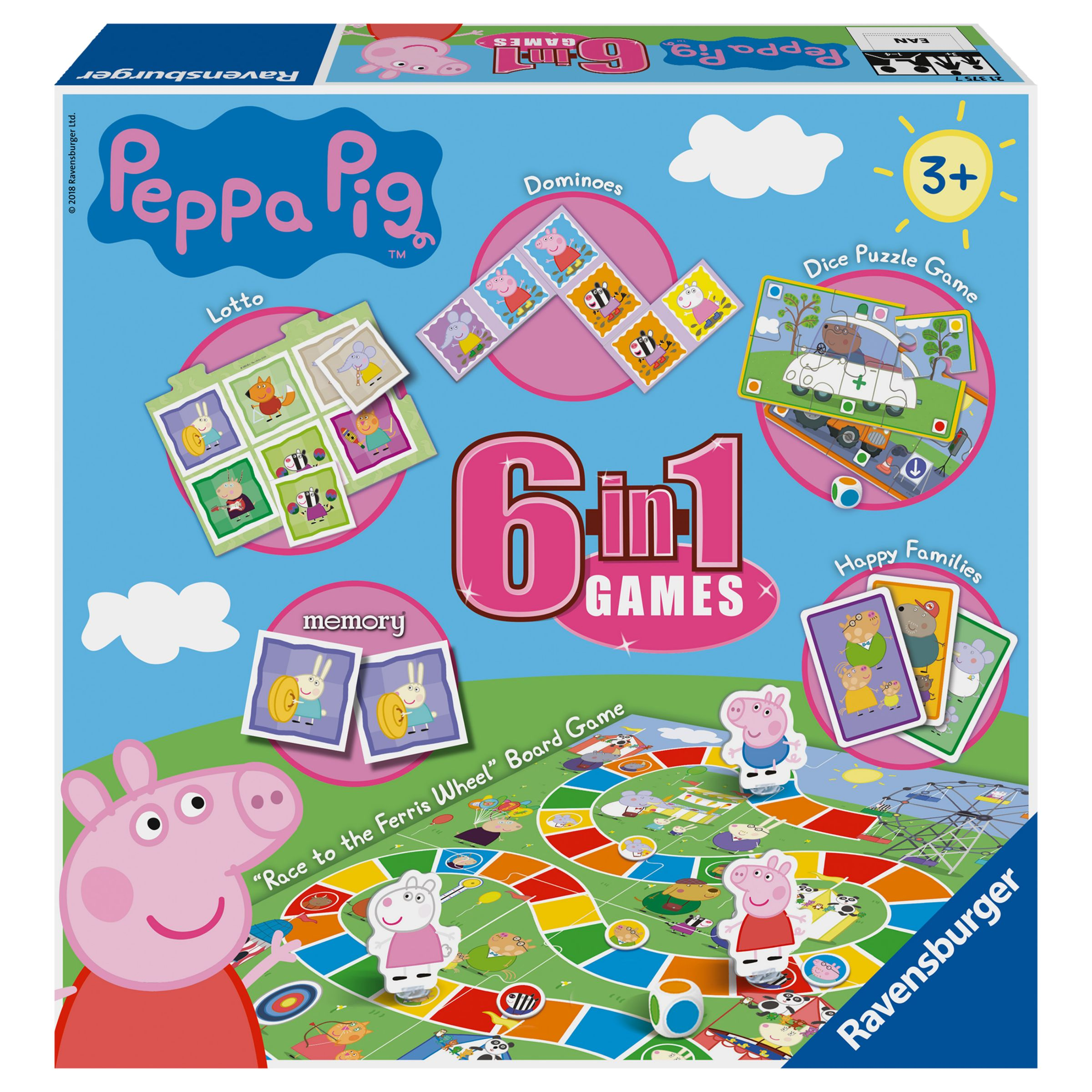 Peppa Pig Ravensburger Peppa Pig 6 in 1 Games Set