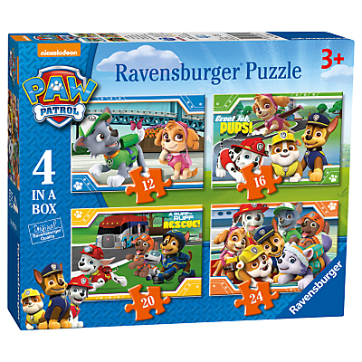 Image of Paw Patrol 4 In a Box Jigsaw Puzzle, 72 Pieces