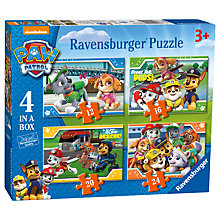 Buy Paw Patrol 4 In a Box Puzzle, 72 Pieces Online at johnlewis.com