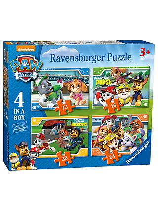 Paw Patrol 4 In a Box Jigsaw Puzzle, 72 Pieces