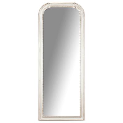John Lewis Distressed Wall Mirror, 132 x 52cm, Cream