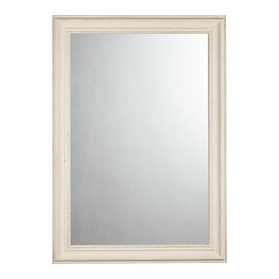 John Lewis Distressed Mirror, 102 x 72cm, Cream
