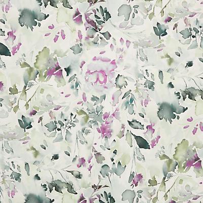 John Lewis & Partners Olivia Leaf Furnishing Fabric, Mulberry