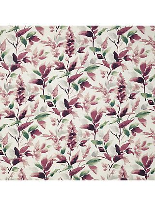 John Lewis & Partners Ashley Leaf Furnishing Fabric, Mulberry