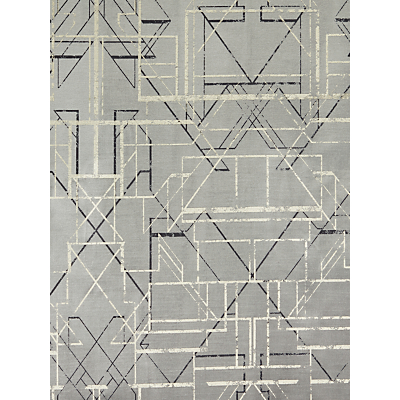 John Lewis & Partners Anglo Velvet Furnishing Fabric, Silver