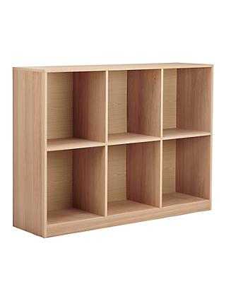 House By John Lewis Cube 2 X 3 Shelf Unit FSC Certified Oak