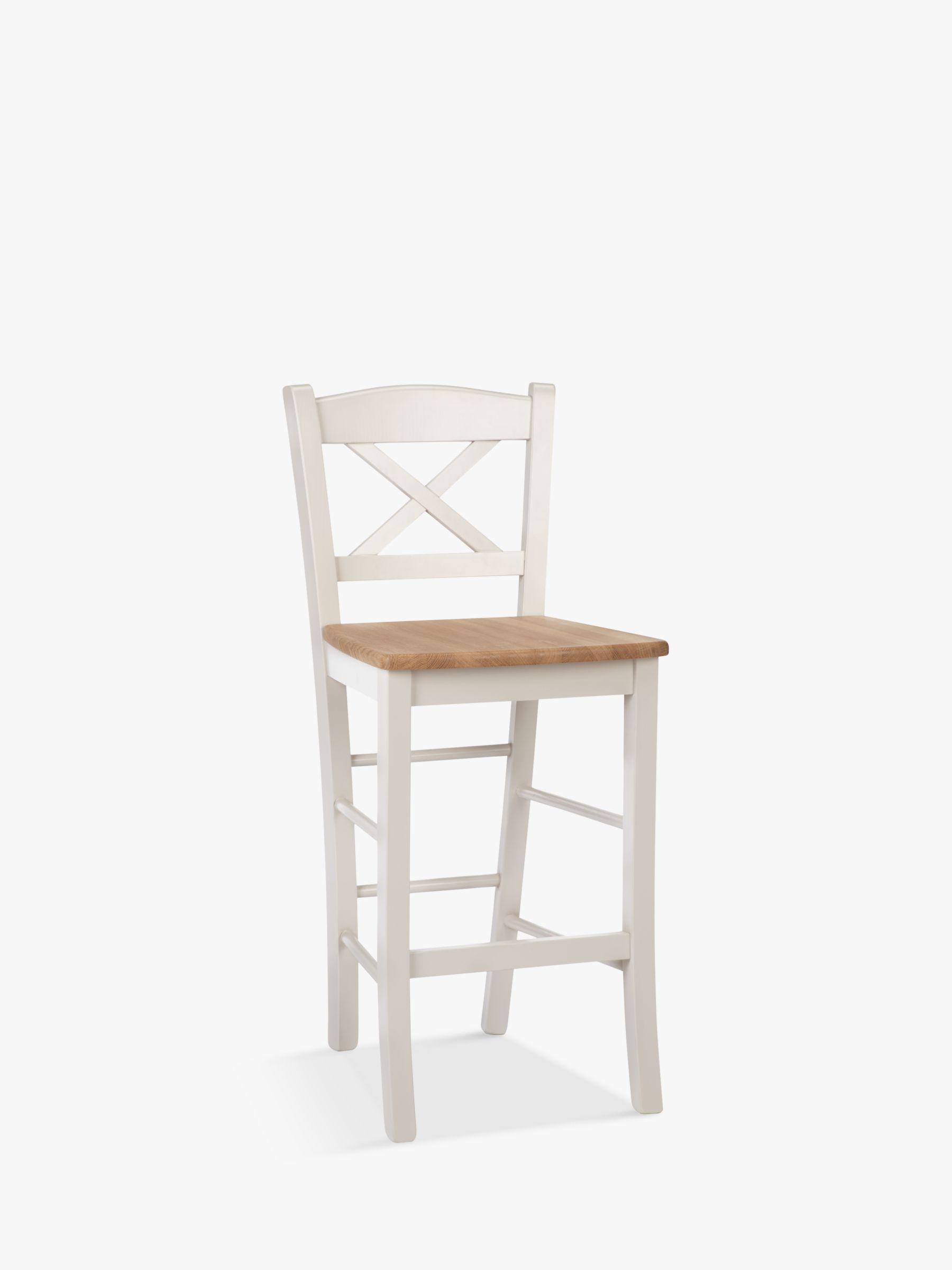 ANYDAY John Lewis & Partners Clayton Bar Chair, Cream, FSC Certified  Oak/Beech