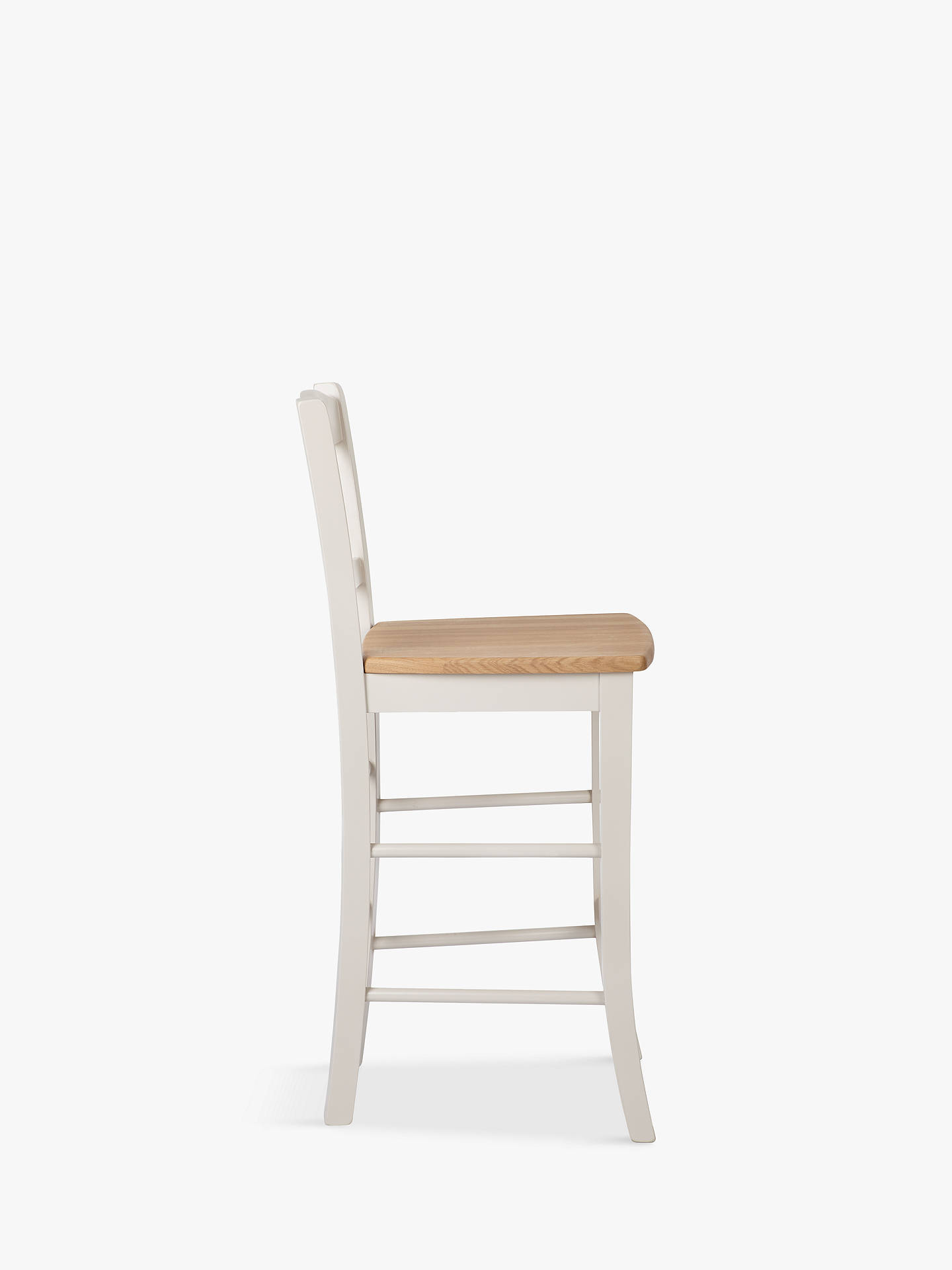 Buy John Lewis & Partners Clayton Bar Chair, Cream, FSC-Certified (Oak/Beech) Online at johnlewis.com