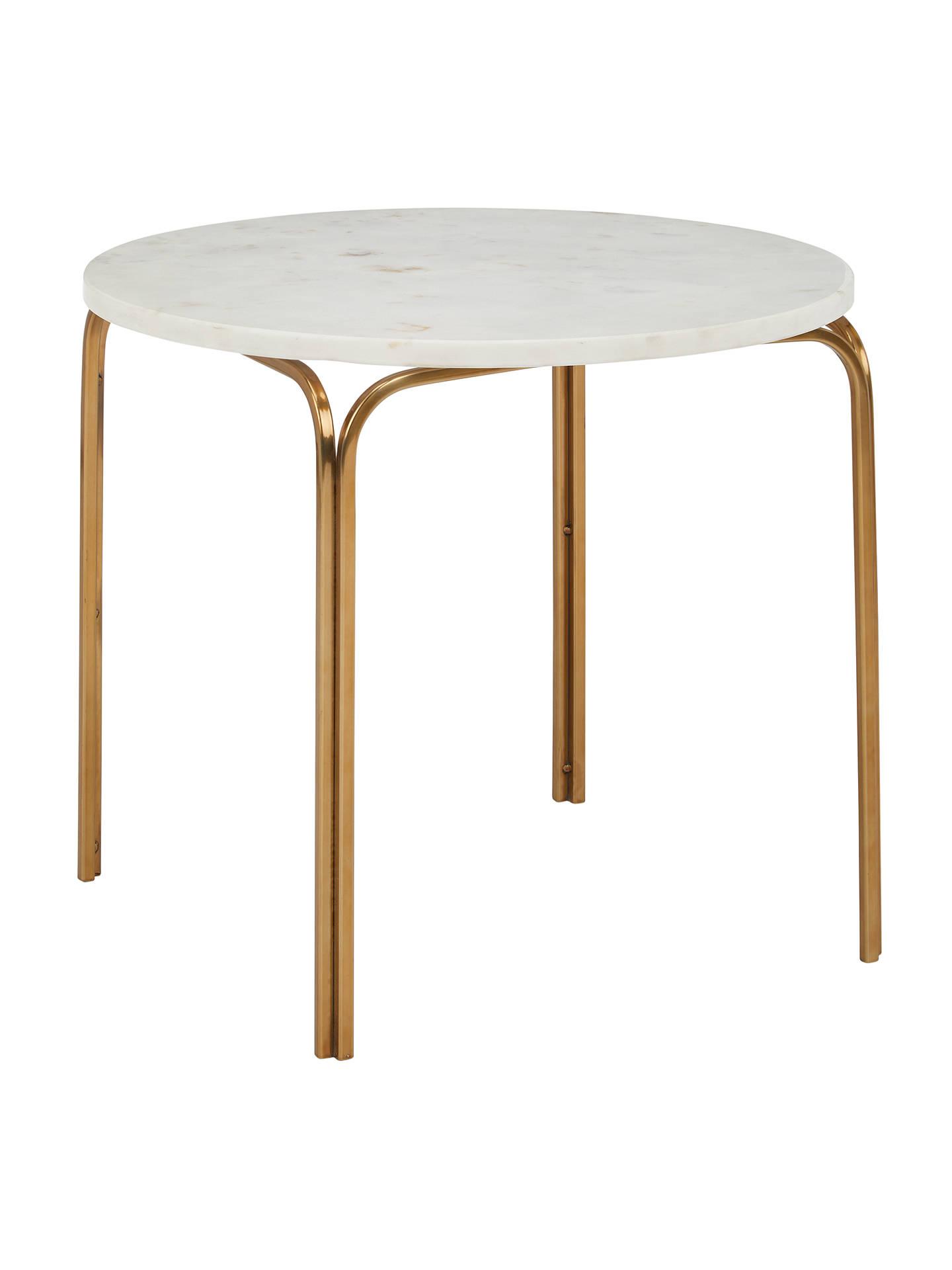 john lewis partners azra marble side table at john lewis. Black Bedroom Furniture Sets. Home Design Ideas