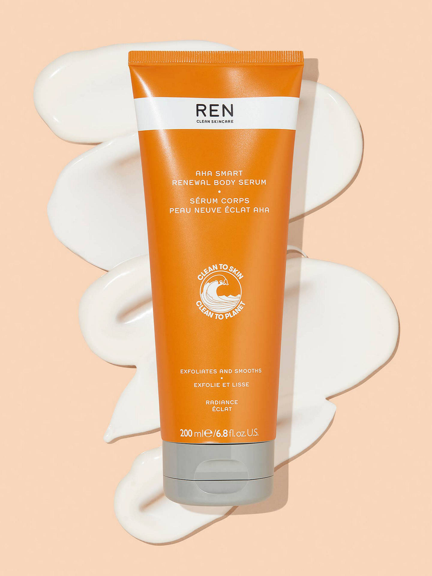 Buy REN Clean Skincare AHA Smart Renewal Body Serum, 200ml Online at johnlewis.com