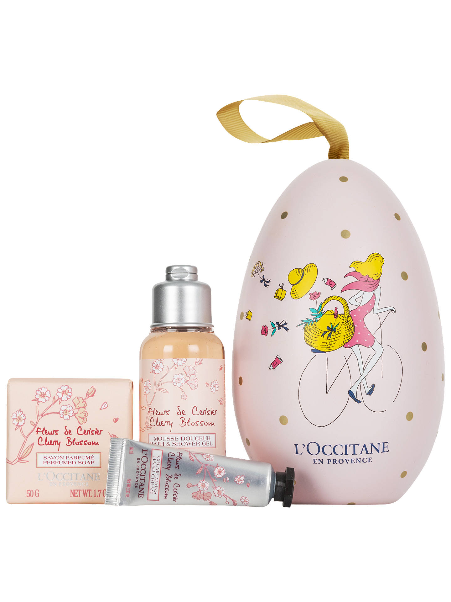 BuyLOccitane Cherry Blossom Egg Bath Body Gift Set Online At Johnlewis