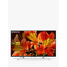 "Buy Sony Bravia KD75XF8596 LED HDR 4K Ultra HD Smart Android TV, 75"" with Freeview HD & Youview, Black Online at johnlewis.com"