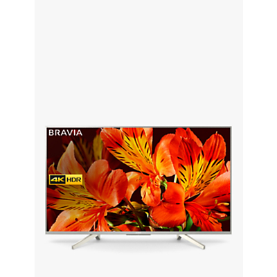 Sony Bravia KD55XF8577 LED HDR 4K Ultra HD Smart Android TV, 55 with Freeview HD & Youview, Silver