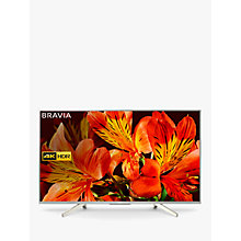 "Buy Sony Bravia KD55XF8577 LED HDR 4K Ultra HD Smart Android TV, 55"" with Freeview HD & Youview, Silver Online at johnlewis.com"